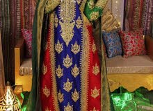 لبسة ملكة أو ليلة الحناء مميزة يشمل الشال واللبسة