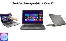 لابتوب Toshiba Portege Z301-A Core i7 شاشة لمس الجيل الرابع مستعمل فقط 1600 شيكل