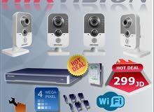 أحدث أنظمة المراقبة اللاسلكيةHikvision IP Cube  بسعر الجملة 299 دينار فقط