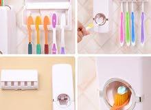موزع معجون الأسنان مع علاقة فراشي الأسنان، شامل التوصيل للمنزل بدون تكلفة إضافية