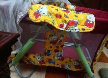 سرير اطفال 2 * 1  ثابت + هزاز جديد لم يستعمل للبيع بسعر