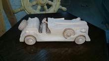 سيارة كلاسيكية قديمة خشب زان