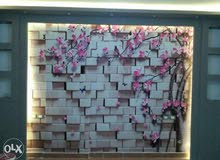 ورق حائط 3Dقطعة واحدة