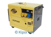 مولد kipor الوكيل مستعمل 625 ساعة فقط