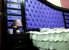 غرفة نوم ماستر لون أسود تنجيد للبيع