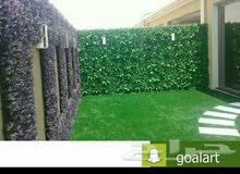 عشب صناعي جداري وحدائق 0563673229واتساب
