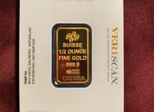 1/2 oz Fine Gold Bar 999.9 - PAMP Suisse Lady Fortuna Veriscan