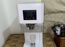 جهاز كبس علب اوتوماتيكي بالكامل مع 800 علبه 330 مل machine close cup