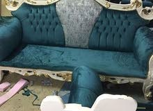 sofa majlis upholstery. repair and recovering.curtains new making and instillati