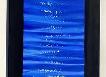 لوحة اكريليك للبيع رسم يد ب 65 درهم