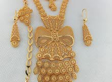 اطقم سلاسل فرنسية مطلية بماء الذهب