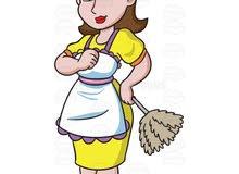 مطلوب خادمة للعمل