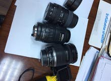 Canon EFS 18-200, Sigma 55-200, Pentax 70-200 and Canon mount adapter