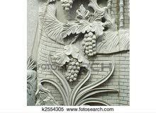 ديكور حجر نوافير شلالات فايربليس كرنيش نحت لوحات