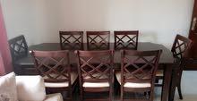 طاولة سفرة 8 مقاعد مع بوفيه