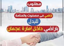 مطلوب أراضي فى المنامة ومصفوت للبدل بأراضي داخل عجمان