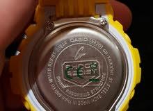 ساعة G-Shock اصلية لون اصفر مميز جديدة بالكرتونة مع الكفالة