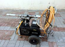 Stucco paste spraying machine airless , مكينة رش ستوكو وايبوكسي ودهانات