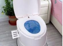 كرسي الحمام المتنقل لكبار السن والأطفال بلاستك مقوى