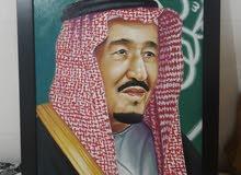 لوحة تشكيلية للملك سلمان ابن عبد العزيز