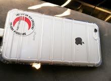 ايفون 6 ابلس 64قيقا في شق في شاشة للبيع في عطل بصمه فقط