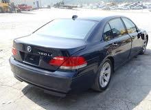 BMW 750 2007 For sale - Blue color