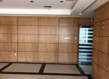 للايجار مكتب فخم بالكويت العاصمة  - مساحة 250متر جاهز بالديكورات الفخمة