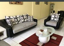 Sofa Set (2+1) with Covers and Cushions