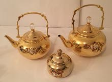 اباريق شاي لون ذهبية للضيافة الفاخرة