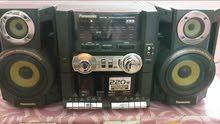 ستريو بانسونيك راديو 4 موجات و2 كاسيت و اواكس مضخم صوت و اكولايزر تحكم بالصوت