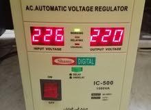 محول ومنظم كهرباء ياباني شغل 110/220 مقاسات مختلفة للتواصل 0583881501