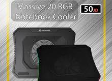 Thermaltake Massive 20 RGB / Cooling Pad / notebook cooler /  مروحة احترافية RGB لتبريد الاب توب