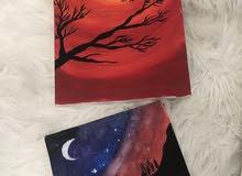 لوحات مرسومه منزليا للبيع بسعر معقول