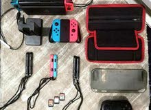 nintendo switch Full set Accessories+games