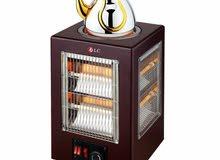دفايةمع طباخة كهربائية للتدفئة وعمل المشروبات الساخنة