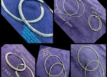 6 pairs of round hoop earrings Large and Medium Sized