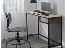 laptop desk table & black chair office
