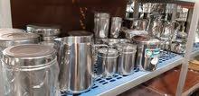 حافظات ستانلس ستيل للسكر والملح والقهوه # للمطاعم