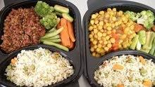 اطباق وجبات مقسمة تدخل الميكرويف
