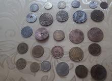 نقود عربية و اجنبية قديمة