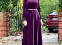 فستان كاتفه طويل تركي الصنع