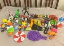 ألعاب أطفال مختلفه الأشكال والأحجام ( 50 ) قطعه