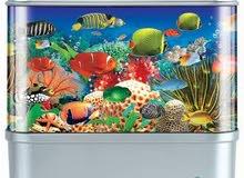 شاشة برواز محيط الاسماك المتحرك
