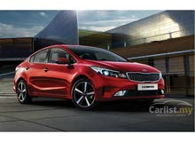 Kia Cerato 2018 For Rent - Black color