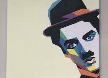 لوحه Charlie Chaplin بمقاس 30x30