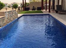 swimming pool and garden landscaping
