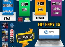 HP ENVY 15 CORE I7 HQ+Ram 8G هارد1تيرا+NVIDIA GT X 850M / لجرافيك2020 بكفاءه