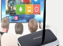ANDROID TV-BOX QUAD CORE 2GB RAM 4K يشغل معظم المحطات  .