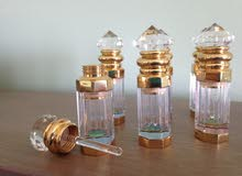6 Crystal Refillable Perfume Essential Oil Bottles w/ applicators, 4ml, Decor Glass