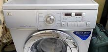 LG Direct Drive 7/4 Combo washer and dryer silver colour